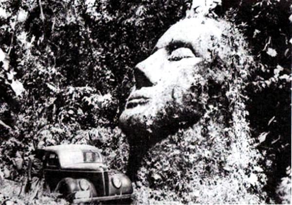 giant head in Guatemala